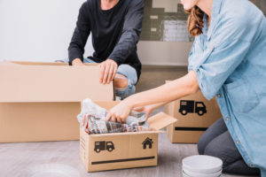 Forsvarlig pakking under flytting